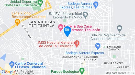 Casa Cantarranas Map