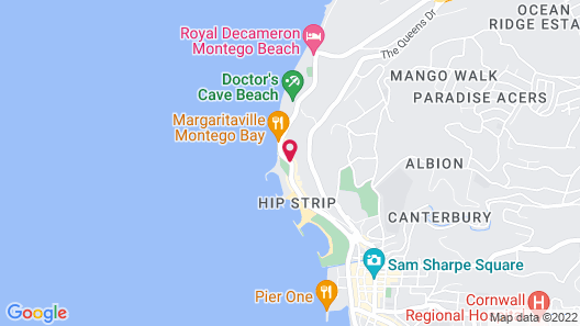 Rooms On the Hip Strip - Montego Bay Map