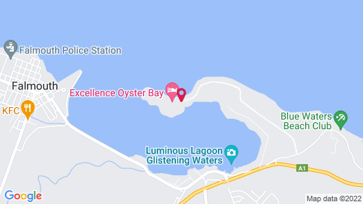 Excellence Oyster Bay - Adults Only All Inclusive Map