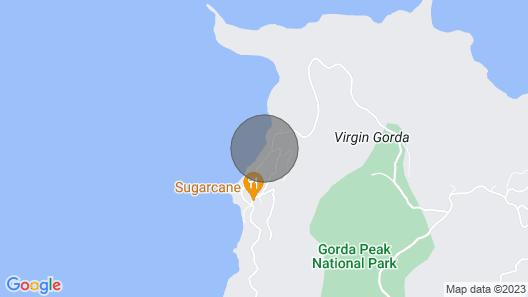 Azure Wish Villa - Beachside Bliss on Virgin Gorda Map