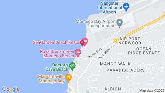 SeaGarden Beach Resort - All Inclusive Map