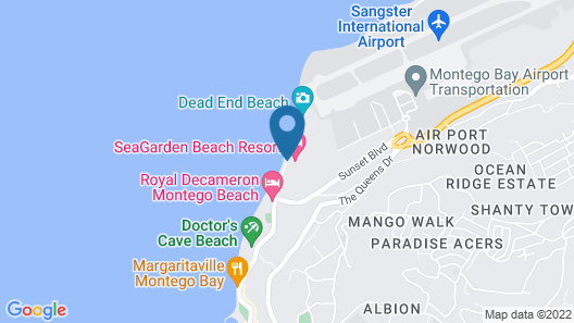 SeaGarden Beach Resort - All Inclusive Map