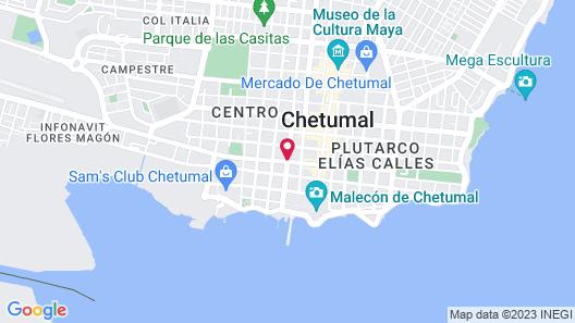 Fiesta Inn Chetumal Hotel Map