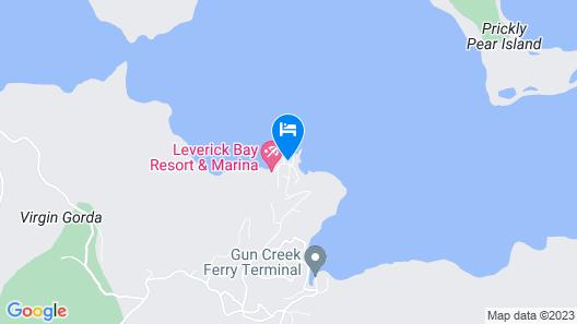 Leverick Bay Resort and Marina Map