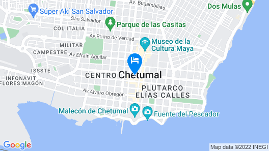 Hotel Suites Arges - Centro Chetumal Map