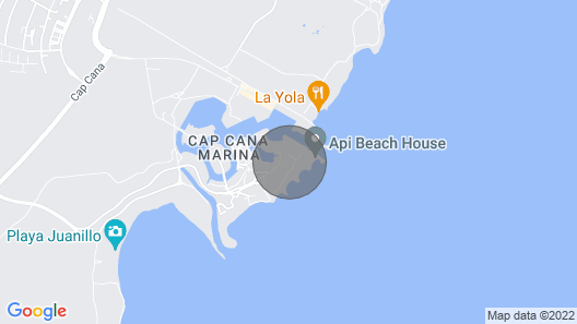 Cap Cana Beachfront Penthouse, One of a Kind Marina & Ocean Front Location Map