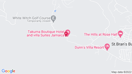 Takuma Boutique Hotel and Villa Suites Jamaica Map