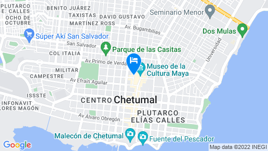 Hotel Real Azteca Map