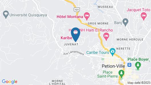 Karibe Hotel Map