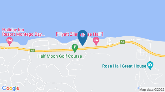 Rose Hall Villas By Half Moon Map
