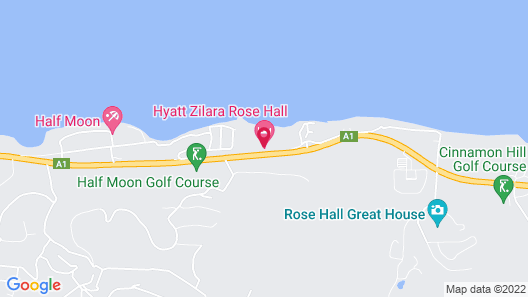 Hyatt Zilara Rose Hall Adults Only – All Inclusive Map