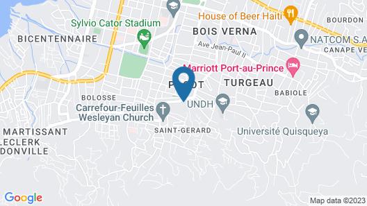 Hotel Oloffson Map