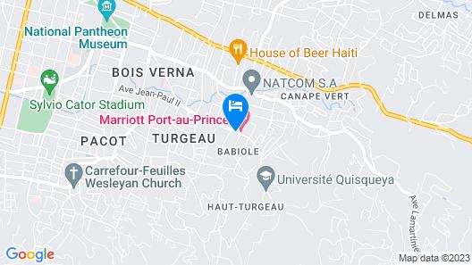 Marriott Port-au-Prince Hotel Map