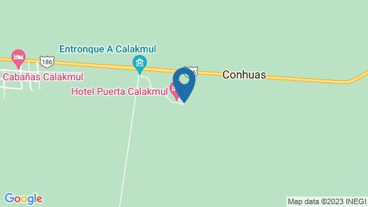 Hotel Puerta Calakmul Map