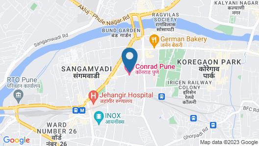 Conrad Pune by Hilton Map