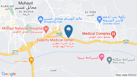 Boudl Mahayel Aseer Map