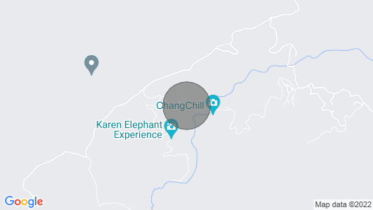 Simple Wooden Bungalows in the Mountains of Chiang Mai Province Map
