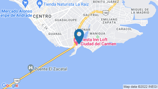 Fiesta Inn & Loft Ciudad del Carmen Map