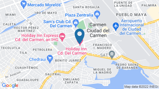 Holiday Inn Ciudad del Carmen Map