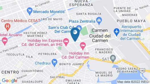 City Express Junior Ciudad del Carmen Map