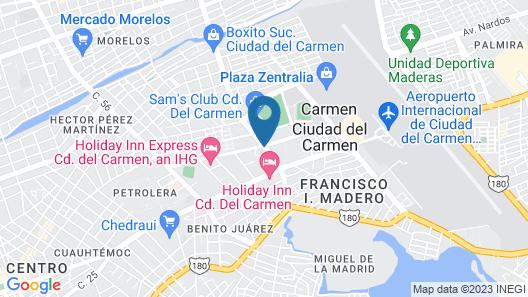 Fiesta Inn Ciudad Del Carmen Map