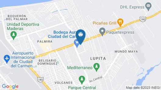 Hyatt Place Ciudad Del Carmen Map