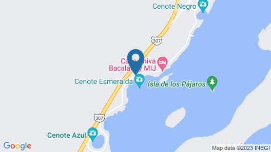Hotel Laguna Bacalar Map