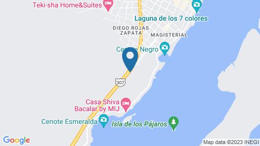 Royal Palm Bacalar Cabañas & Lagoon Club Map