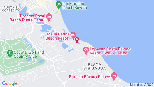 Melia Punta Cana Beach Resort - Adults Only All Inclusive Map