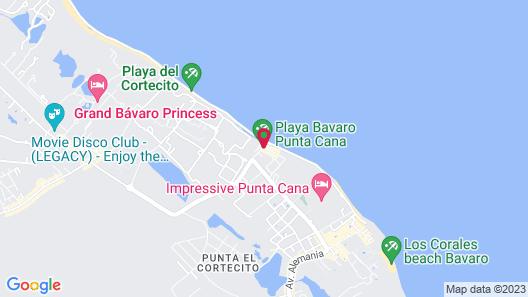 Hotel Cortecito Inn Bavaro Map