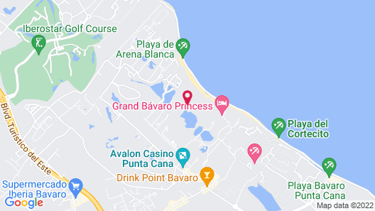 Paradisus Punta Cana Resort All Inclusive Map