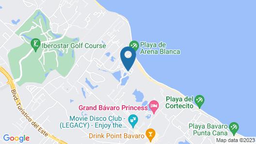 Caribe Deluxe Princess Beach Resort & Spa - All Inclusive Map