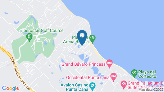 Punta Cana Princess All Suites - Adults Only All Inclusive  Map