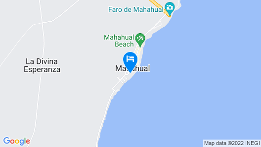 Hotel El Fuerte Mahahual Map