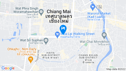 Chiangmai Boutique House Map
