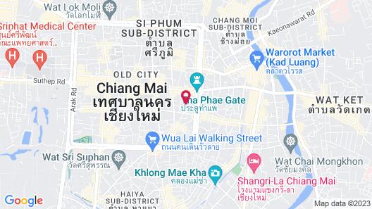De Naga Hotel Chiang Mai Map