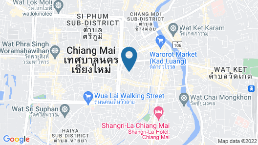 Away Chiang Mai Thapae Resort - A Vegan Retreat Map
