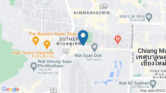 Baan Phuen Hostel and Rooftop Map