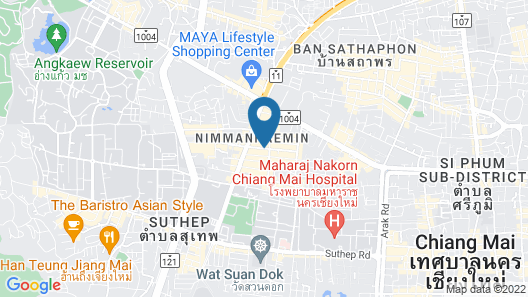 Akyra Manor Chiang Mai Map