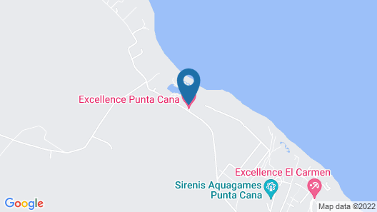 Excellence Punta Cana - Adults Only All Inclusive Map
