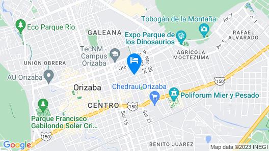 Holiday Inn Orizaba Map