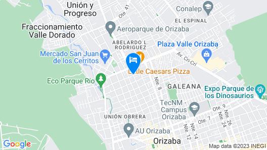 Mi Bella Orizaba Hotel Map