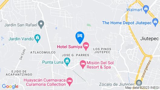 Camino Real Sumiya Cuernavaca Map