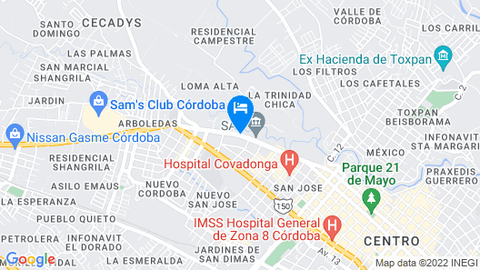 Comfort Inn Cordoba Map