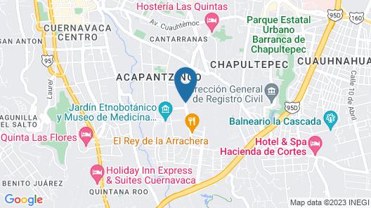 Holiday Inn Cuernavaca Map