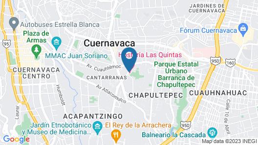 Hosteria Las Quintas Hotel Map