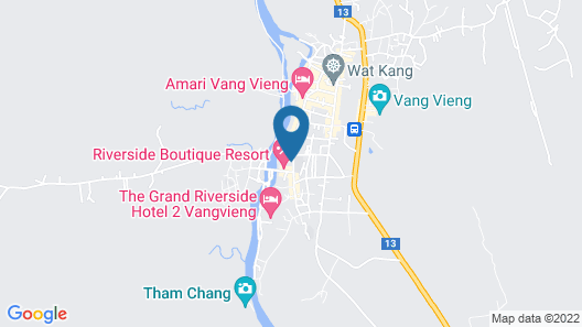 Riverside Boutique Resort, Vang Vieng Map