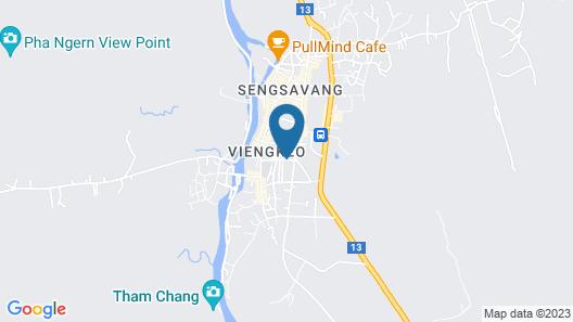 Vang Vieng Galaxy guesthouse Map