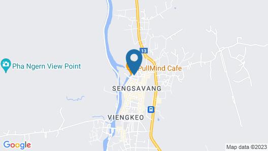 Vang Vieng Victory Hotel Map
