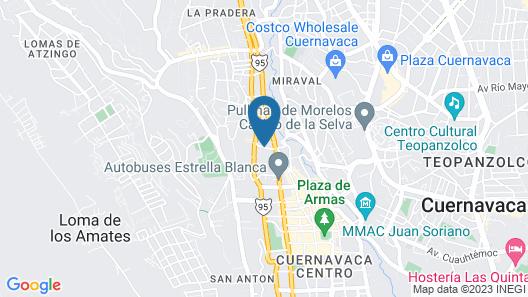 Las Mananitas Hotel Garden Restaurant and Spa Map